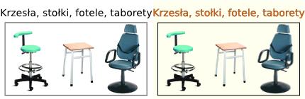 Krzesła medyczne, Stołki rehabilitacyjne, Fotele do pobierania krwi